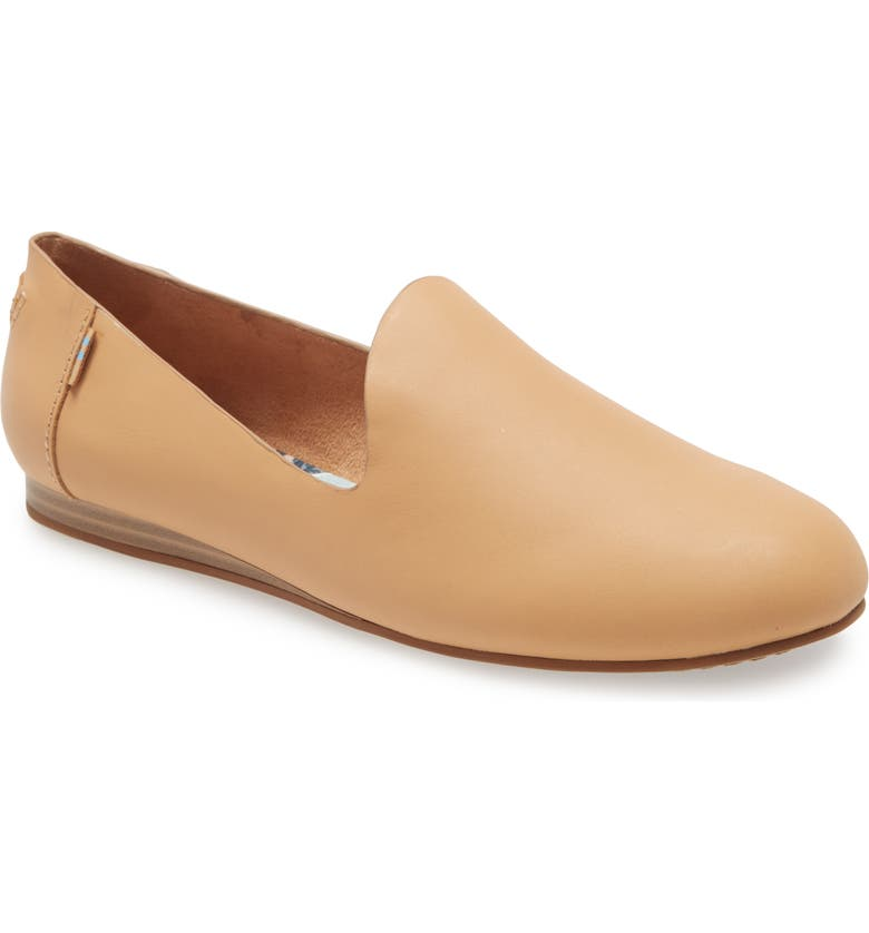 TOMS Darcy Flat, Main, color, BEIGE LEATHER