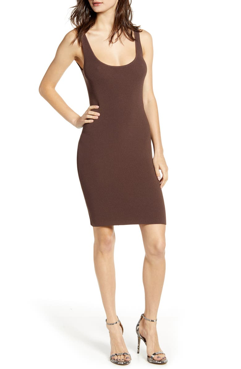 LEITH Date Night Body-Con Sweater Dress, Main, color, 210