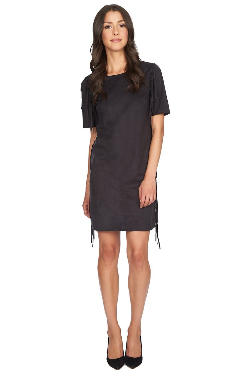 1.STATE FauxSuede Shift Dress, Main, color, 001