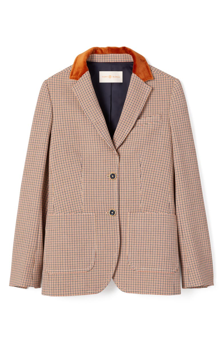 TORY BURCH Houndstooth Blazer, Main, color, MENS SUITING