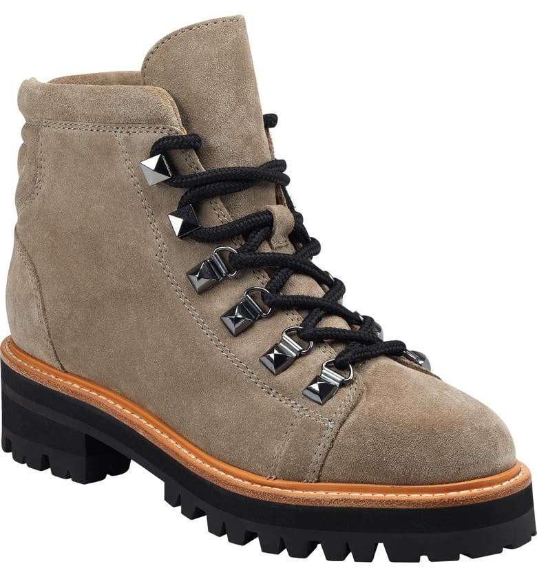 MARC FISHER LTD Issy Hiker Boot, Main, color, LIGHT NATURAL SUEDE
