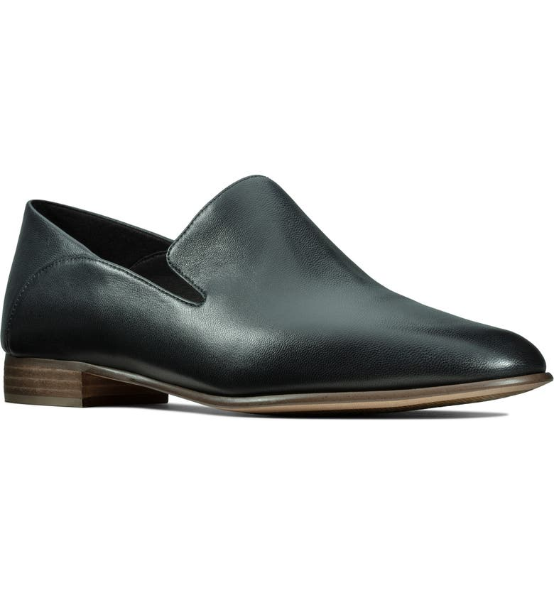 CLARKS<SUP>®</SUP> Pure Viola Flat, Main, color, BLACK LEATHER