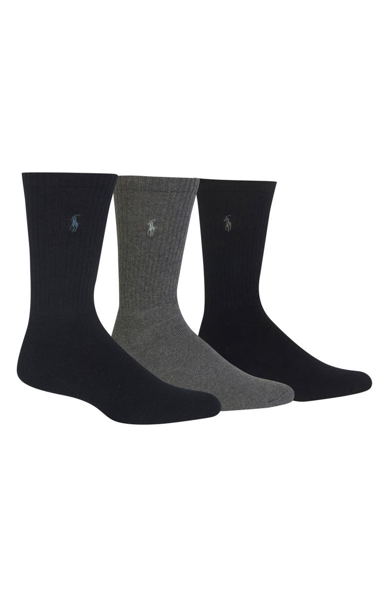 POLO RALPH LAUREN 3-Pack Crew Socks, Main, color, ASSORTED