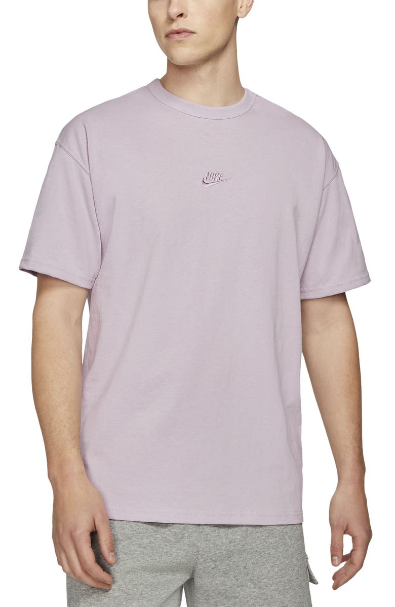 NIKE Sportswear Oversize Embroidered Logo T-Shirt, Main, color, ICED LILAC