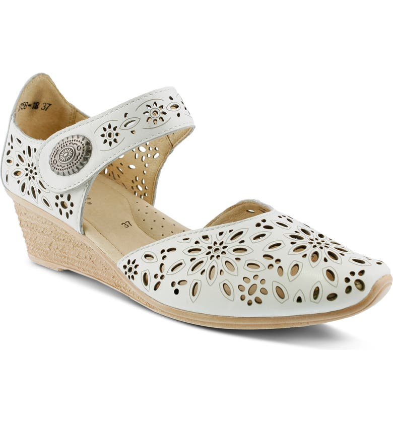 SPRING STEP Nougat Pump, Main, color, WHITE LEATHER