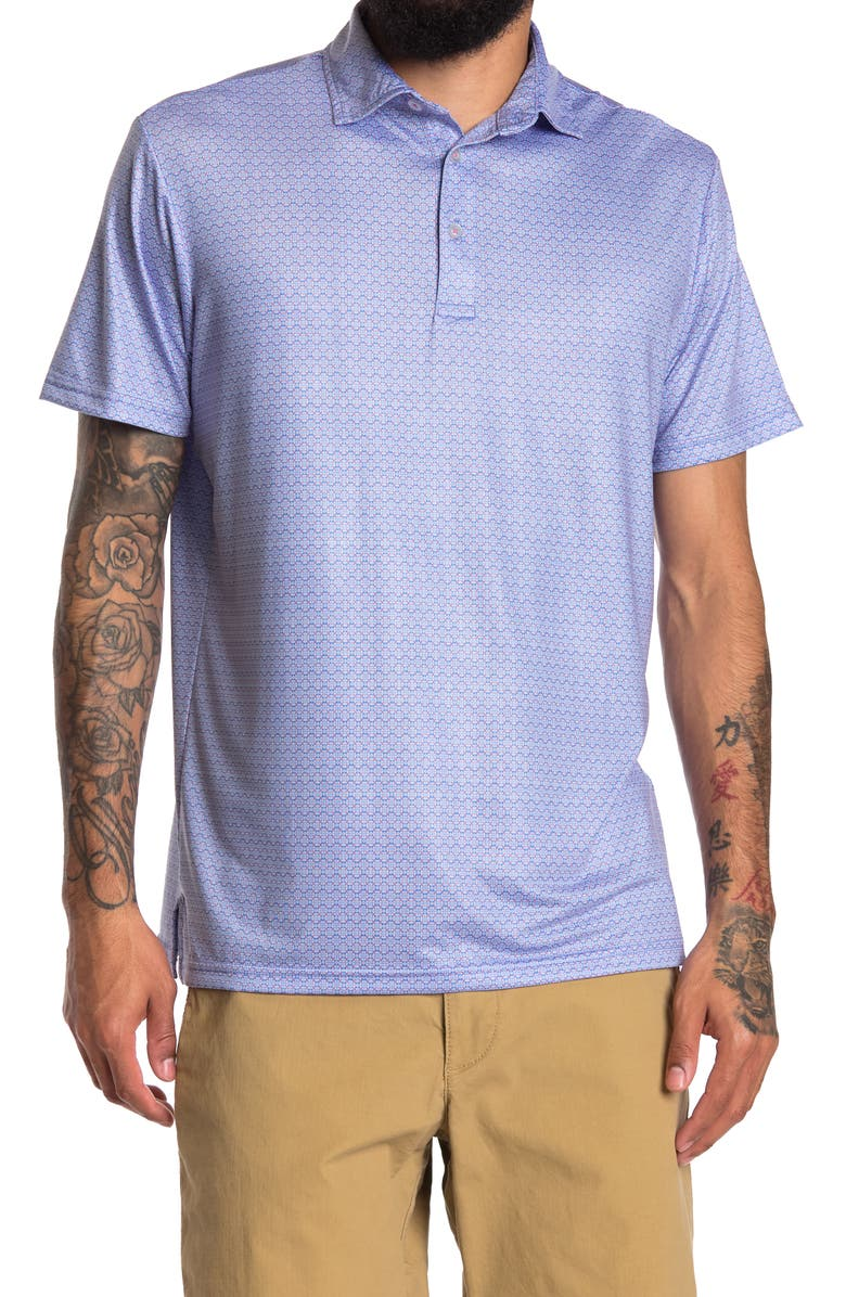 TAILORBYRD Performance Printed Polo, Main, color, PERI BLUE