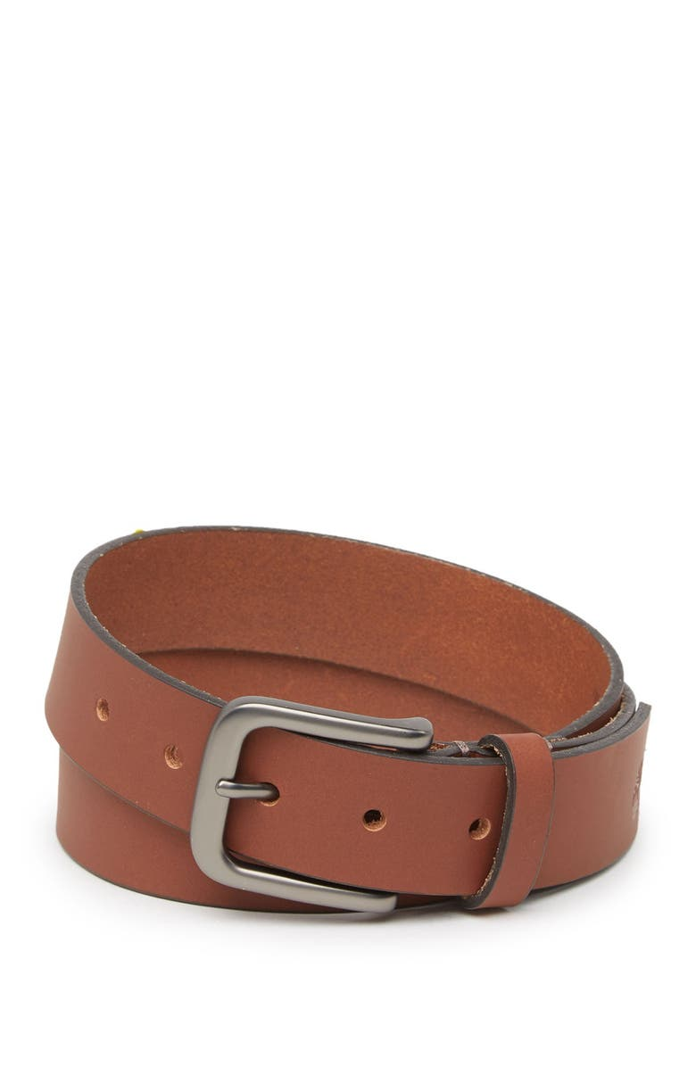 TIMBERLAND 35mm Classic Leather Belt, Main, color, DARK BROWN