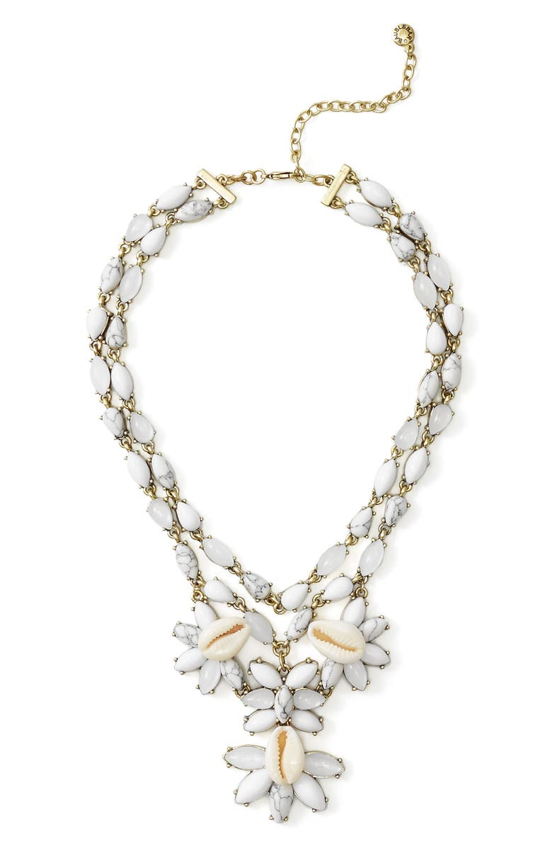 BAUBLEBAR Malana Shell Statement Necklace, Main, color, 100