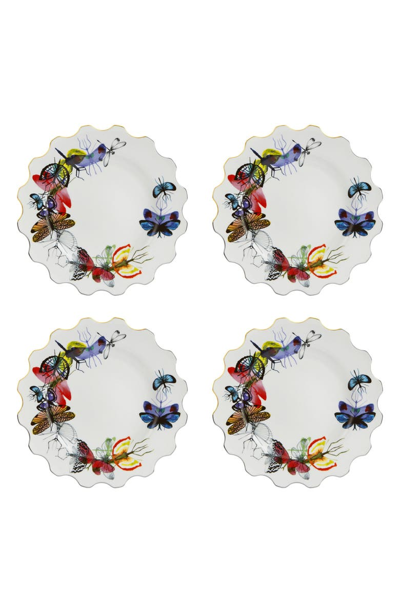 CHRISTIAN LACROIX Caribe Set of 4 Dinner Plates, Main, color, 100