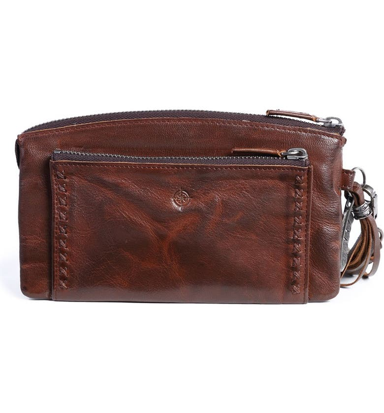 OLD TREND Bluebell Leather Clutch, Main, color, COFFEE