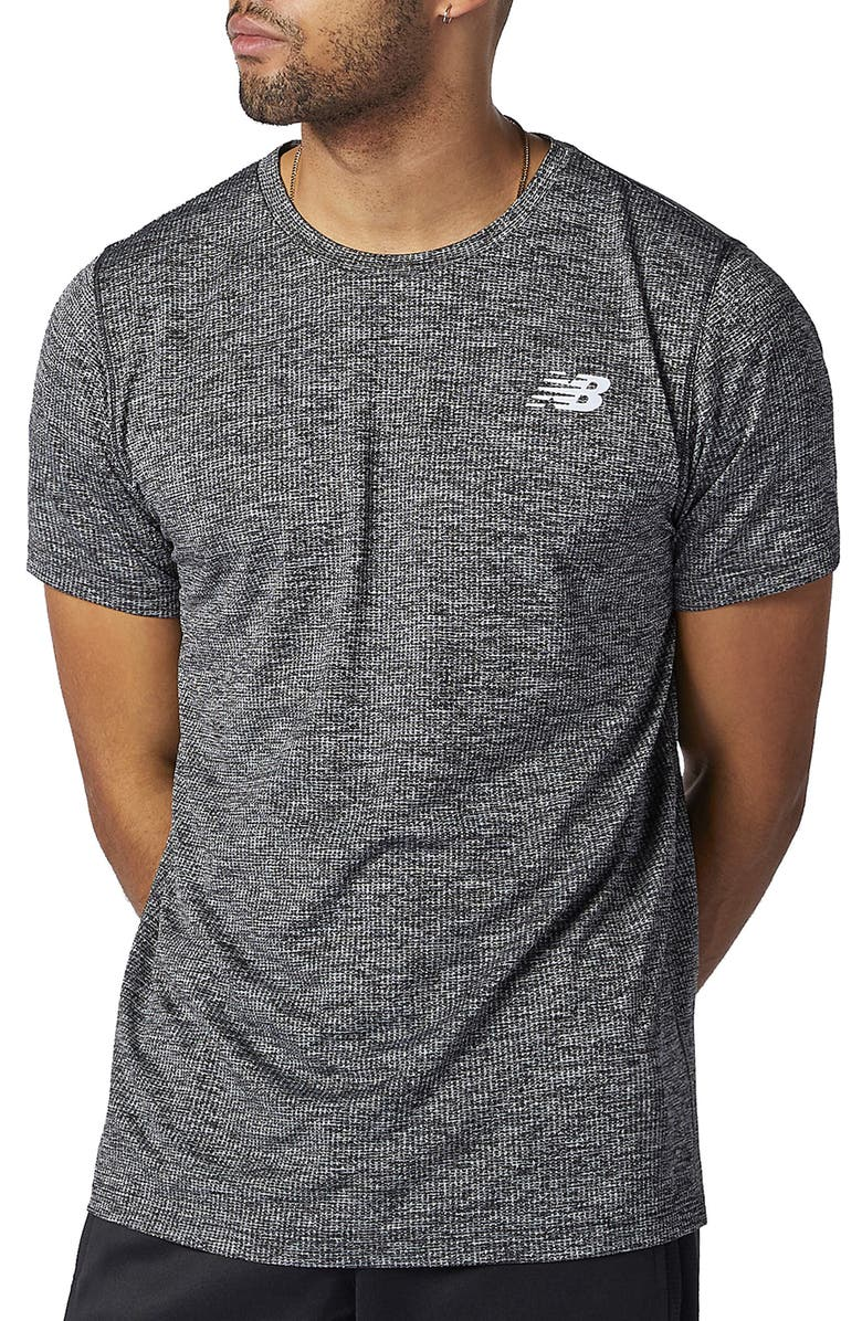NEW BALANCE Men's Tenacity Performance T-Shirt, Main, color, BLACK HEATHER