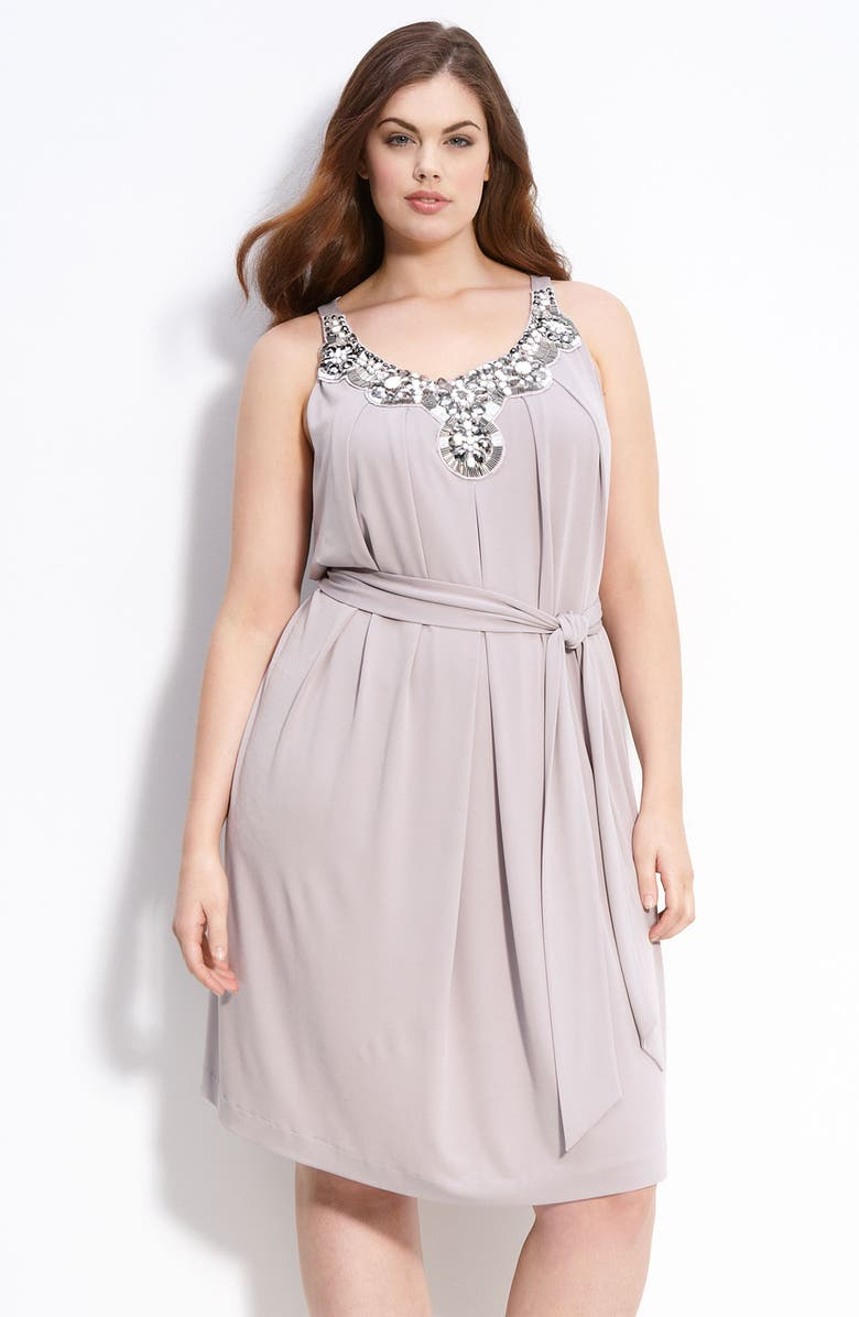 SUZI CHIN FOR MAGGY BOUTIQUE Embellished Sleeveless Dress, Main, color, MIST