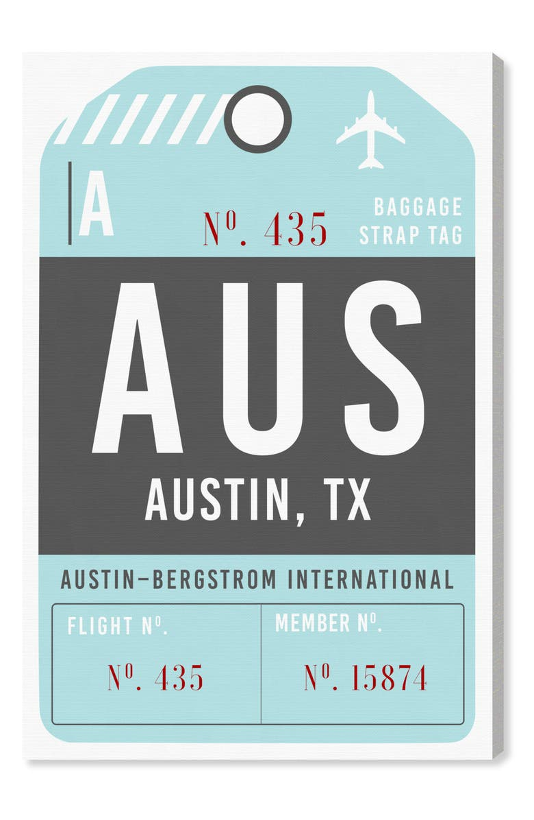 OLIVER GAL Austin Luggage Tag Wall Art, Main, color, 400