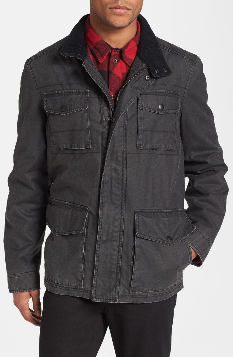 DOCKERS<SUP>®</SUP> Coated Cotton Field Jacket, Main, color, Black
