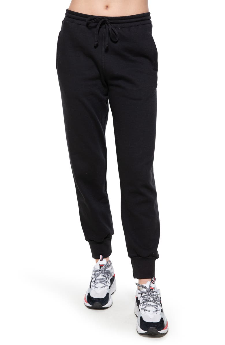 SUB_URBAN RIOT Cambridge Crop Sweatpants, Main, color, BLACK