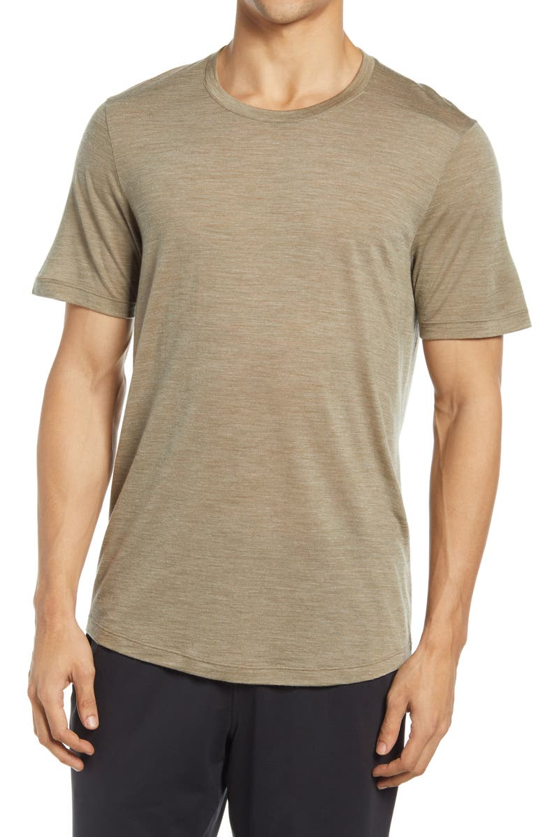 ICEBREAKER Cool-Lite<sup>™</sup> Sphere Active T-Shirt, Main, color, FLINT HEATHER