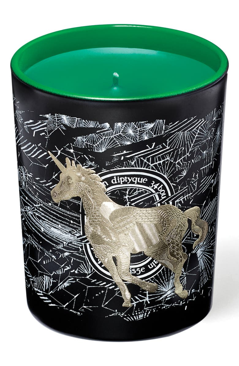 DIPTYQUE Unicorn Frosted Forest Scented Candle, Main, color, No Color