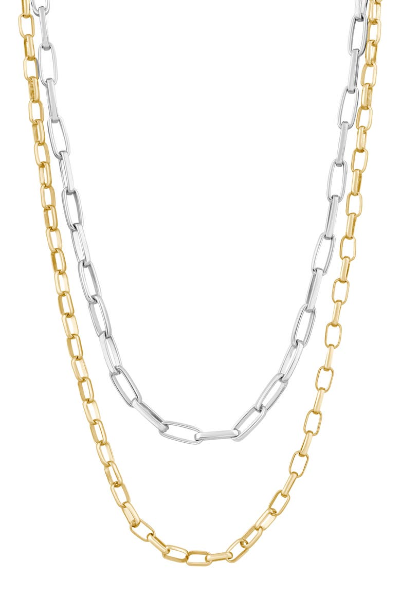 ELECTRIC PICKS Cali Layered Necklace, Main, color, GOLD/SILVER