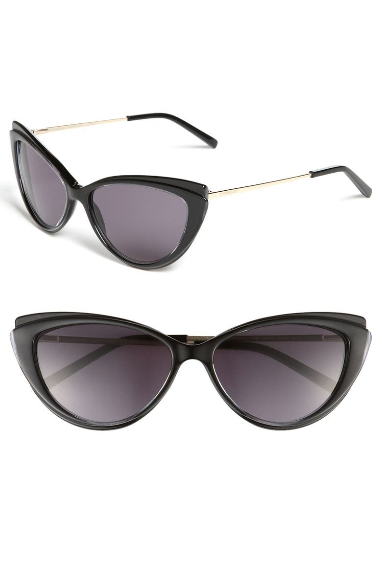 YVES SAINT LAURENT Cat's Eye Sunglasses, Main, color, 001
