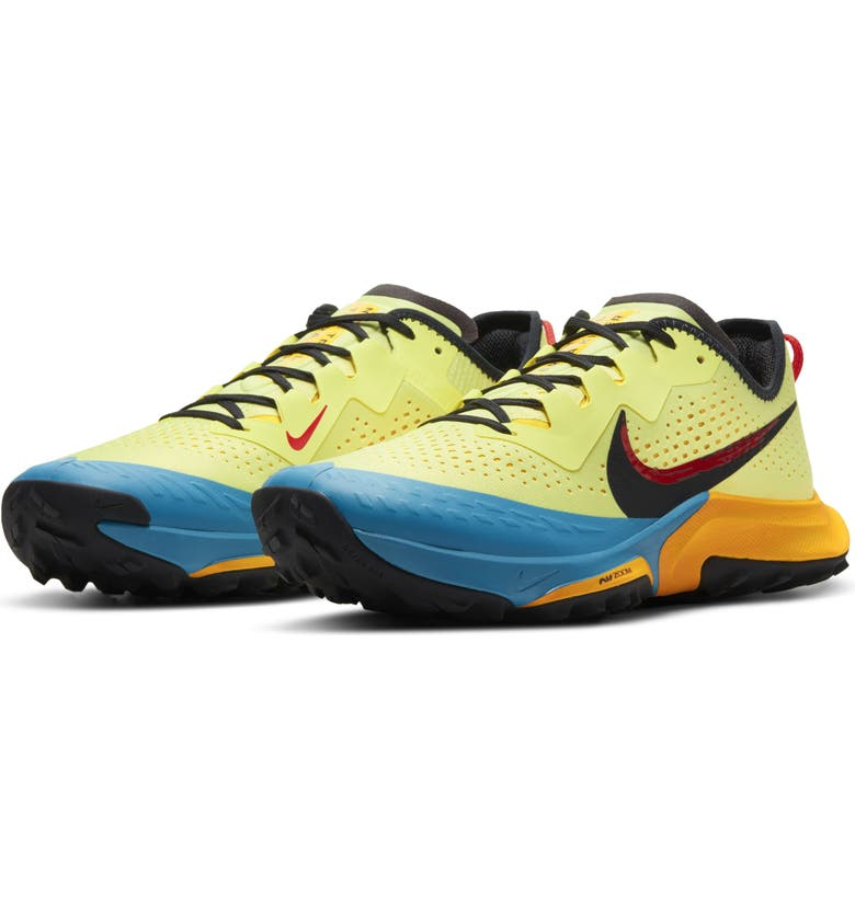 NIKE Air Zoom Terra Kiger 7 Trail Running Shoe, Main, color, YELLOW/ BLUE