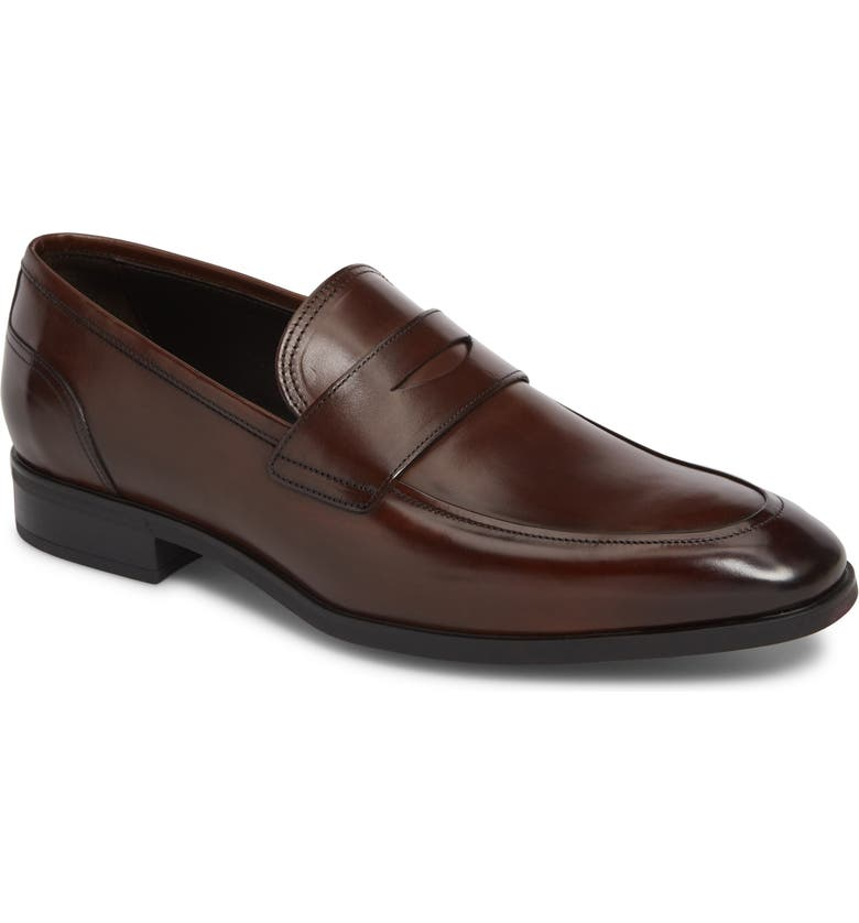 TO BOOT NEW YORK Amherst Penny Loafer, Main, color, PARMA MARRONE 55 SP