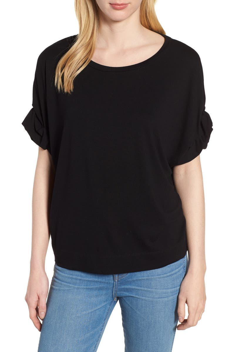 HABITUAL Harper Roll Cuff Tee, Main, color, 001