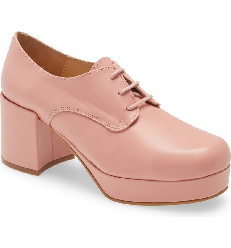 INTENTIONALLY BLANK Albany Platform Pump, Main, color, PINK LEATHER