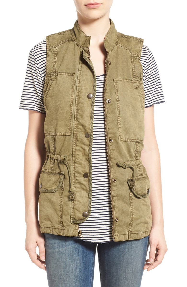 HINGE 'Expedition' Utility Vest, Main, color, OLIVE COVERT