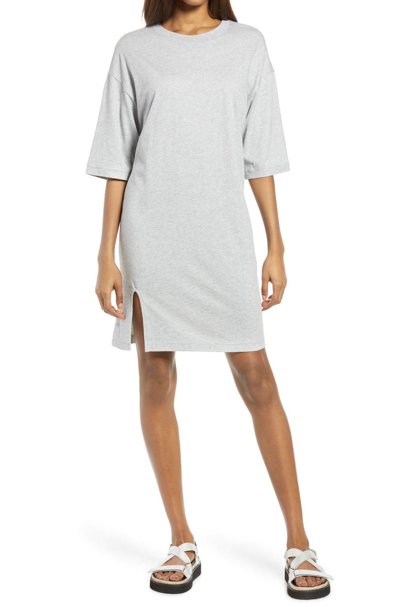 TREASURE & BOND T-Shirt Dress, Main, color, GREY HEATHER