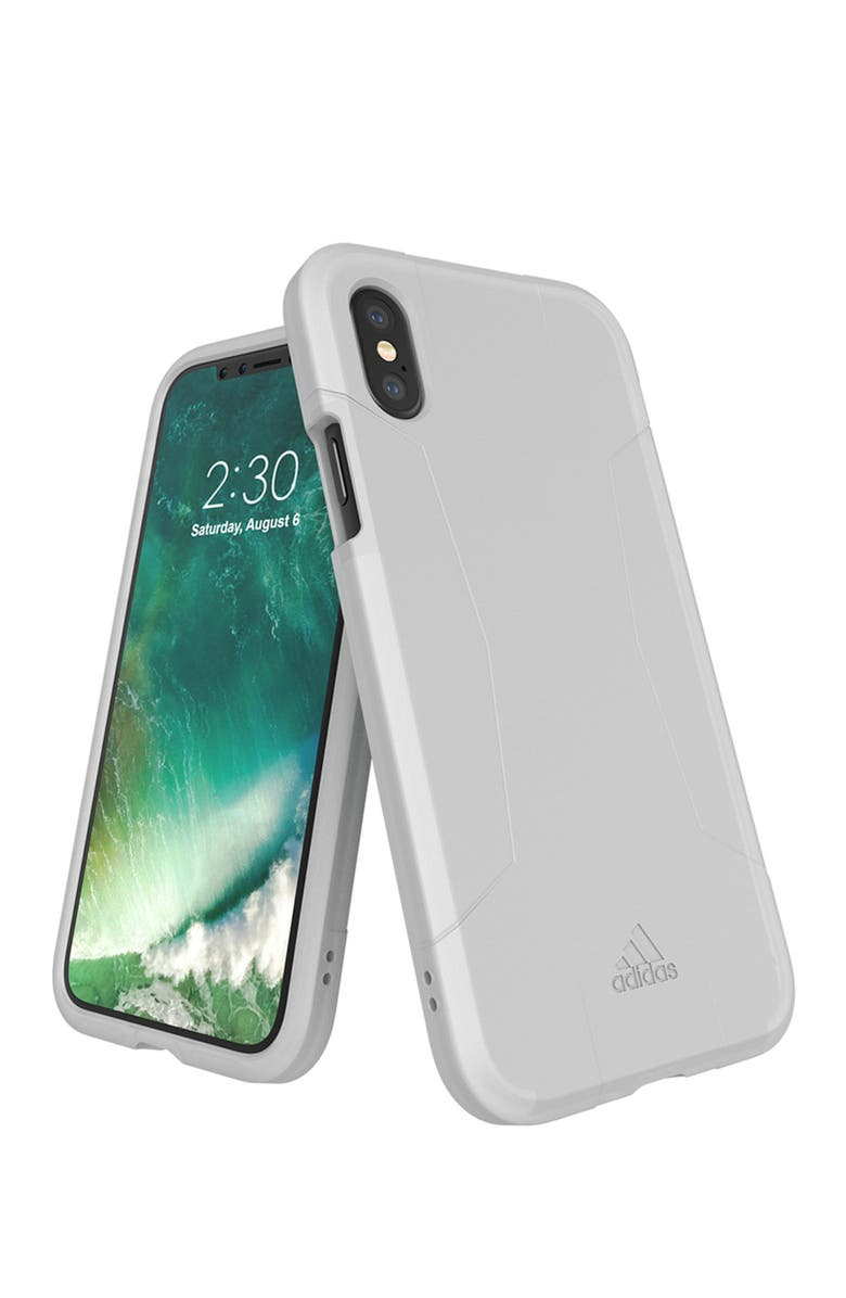 ADIDAS White Agravic iPhone X Case, Main, color, WHITE
