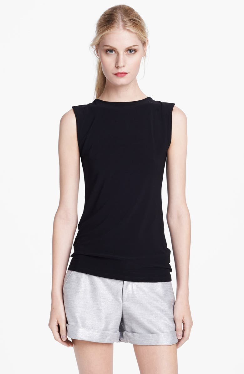 ALICE + OLIVIA 'Belle' Bow Detail Open Back Top, Main, color, 001