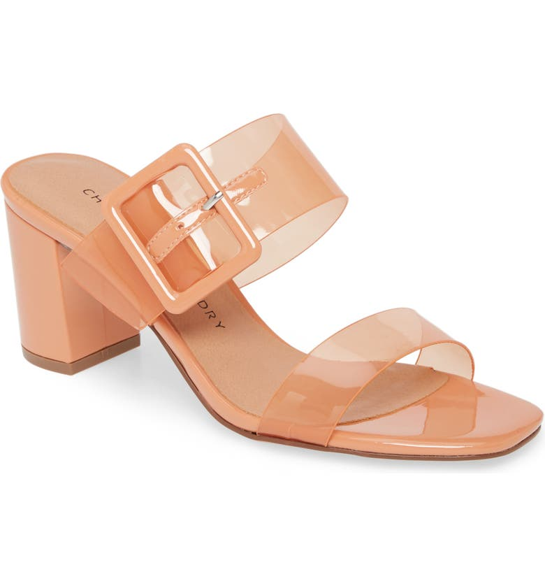 CHINESE LAUNDRY Yippy Block Heel Sandal, Main, color, APRICOT FAUX LEATHER