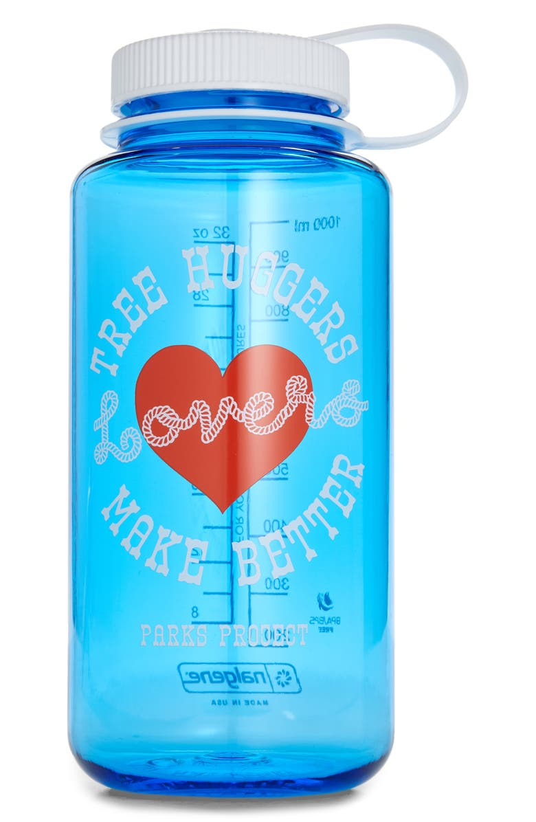 PARKS PROJECT Tree Huggers Make Better Lovers Water Bottle, Main, color, MLT