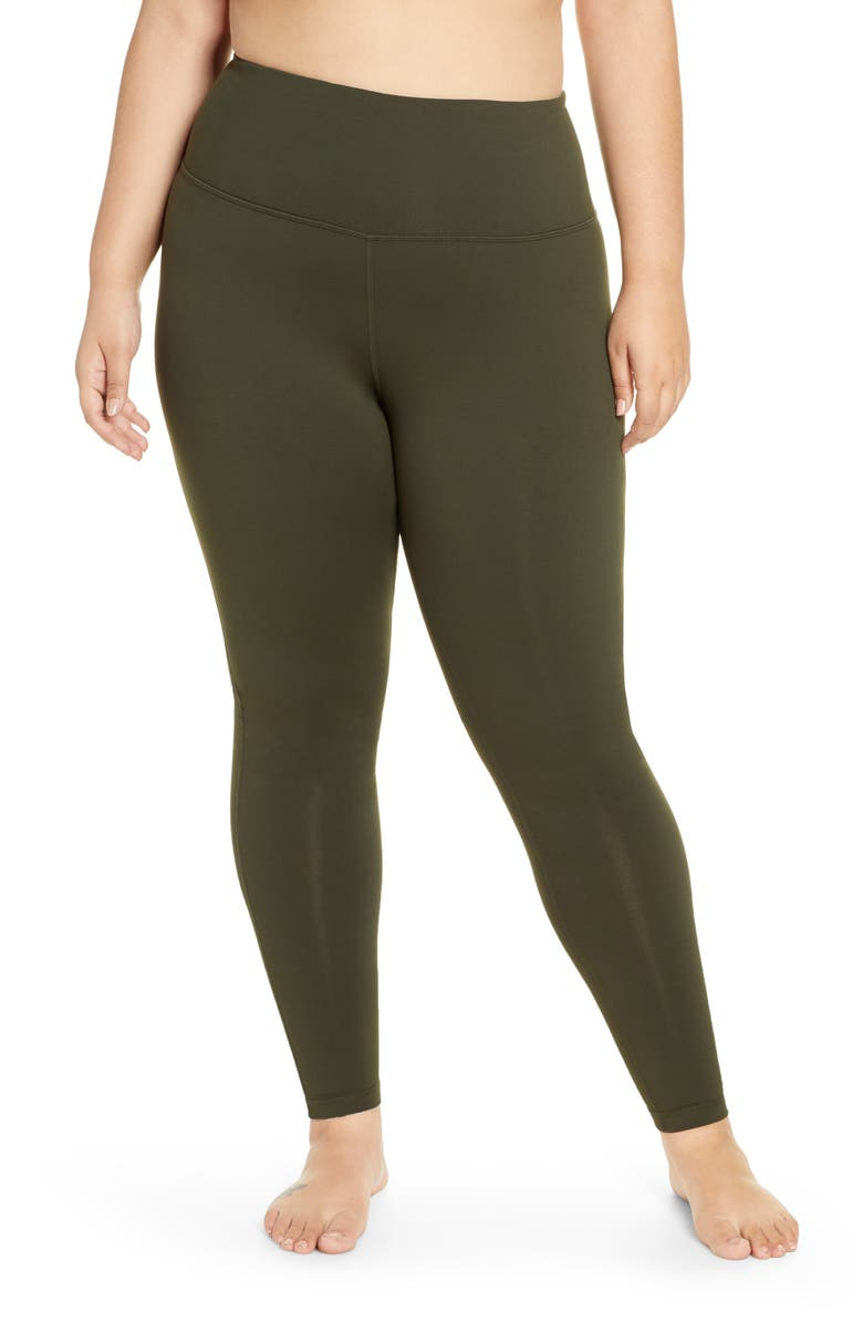 ZELLA Live In High Waist Leggings, Main, color, GREEN ROSIN