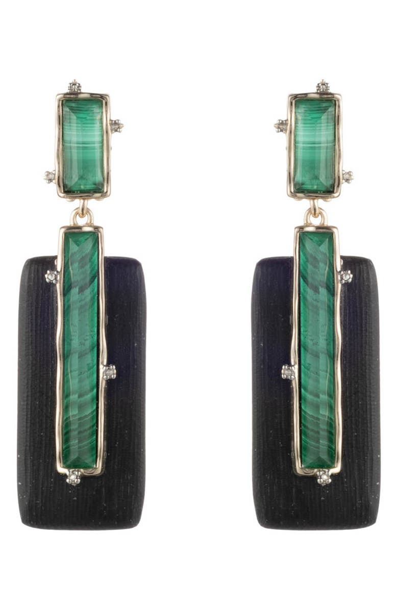 ALEXIS BITTAR Retro Gold Collection Stone Studded Clip Earrings, Main, color, 001