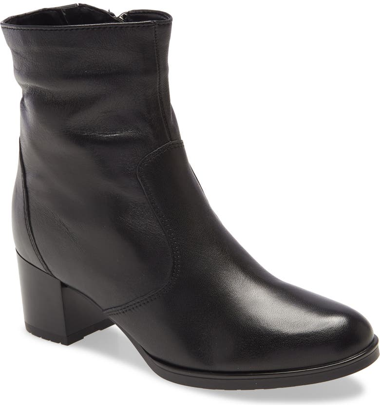 ARA Fiorella Bootie, Main, color, BLACK DAYTONA LEATHER