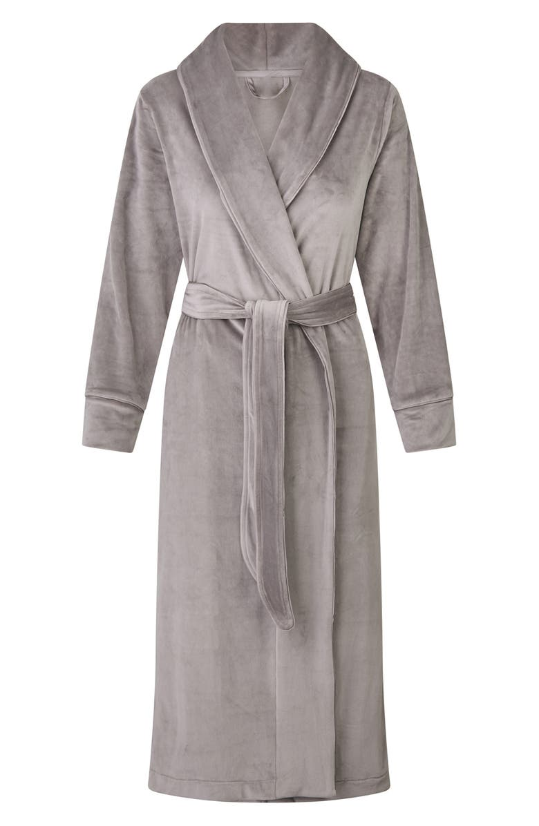 SKIMS Velour Women's Long Robe, Main, color, 030