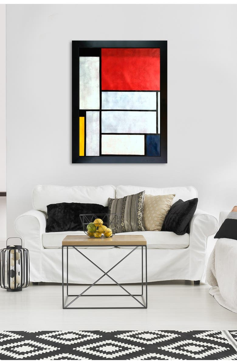 OVERSTOCK ART Tableau I - Framed Oil Reproduction of an Original Painting by Piet Mondrian, Main, color, MULTI