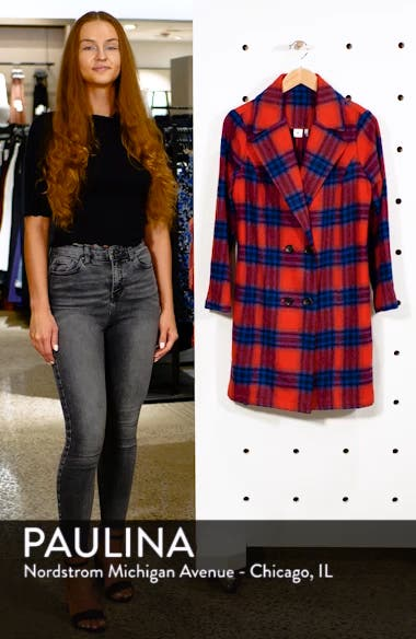 Plaid Double Breasted Coat, sales video thumbnail