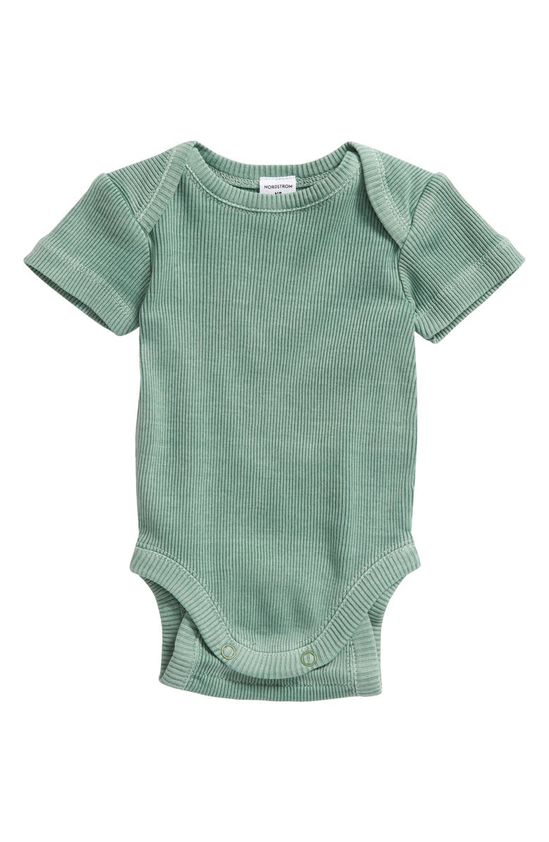 NORDSTROM Grow with Me Adjustable Bodysuit, Main, color, GREEN BAY