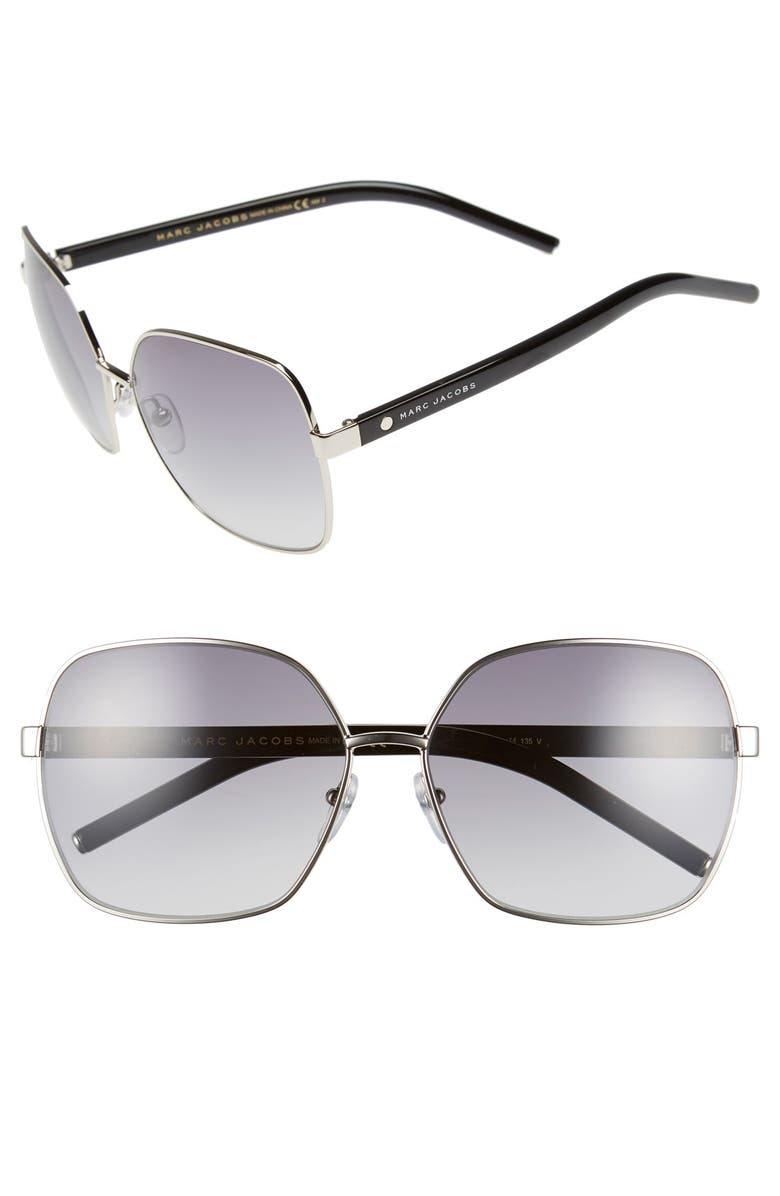 MARC JACOBS 61mm Oversized Sunglasses, Main, color, 043