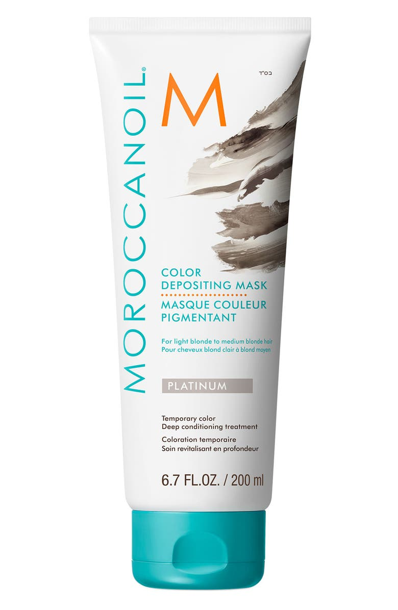 MOROCCANOIL<SUP>®</SUP> Color Depositing Mask Temporary Color Deep Conditioning Treatment, Main, color, PLATINUM