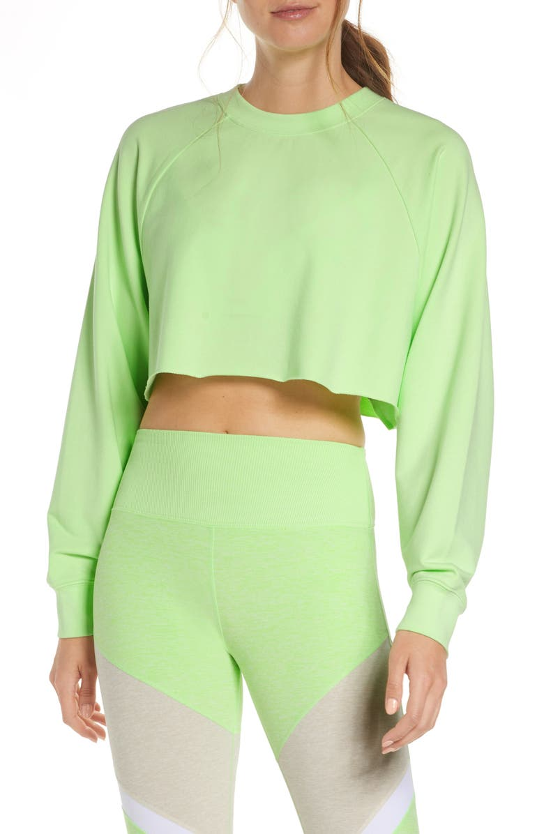 ALO Double Take Crop Sweatshirt, Main, color, 349