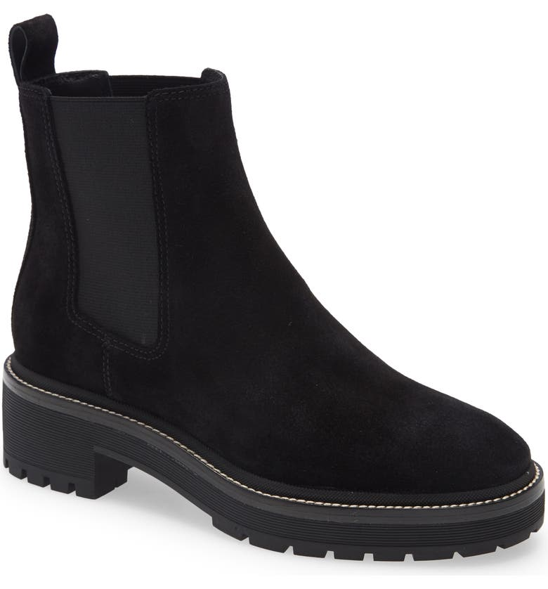 TORY BURCH Chelsea 50mm Lug Bootie, Main, color, PERFECT BLACK