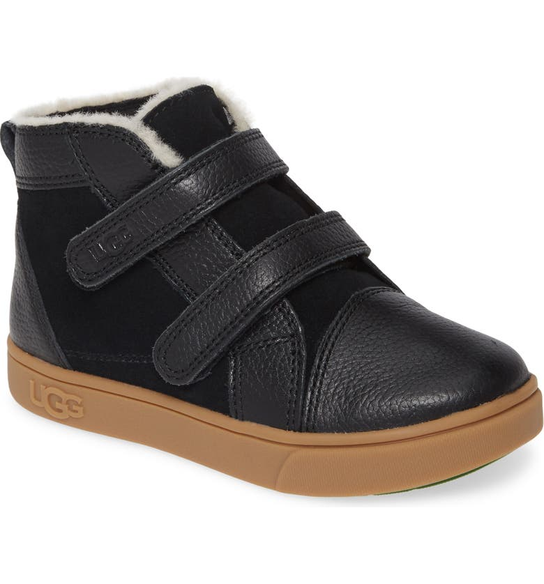 UGG<SUP>®</SUP> Rennon High Top Sneaker, Main, color, BLACK