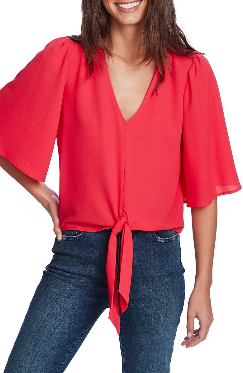 1.STATE Tie Front Blouse, Main, color, 654