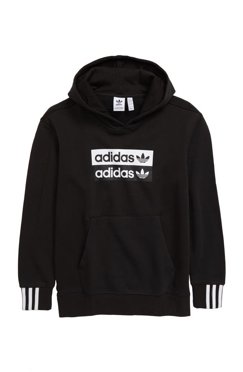 ADIDAS ORIGINALS adidas V-Ocal Fleece Pullover Hoodie, Main, color, 001