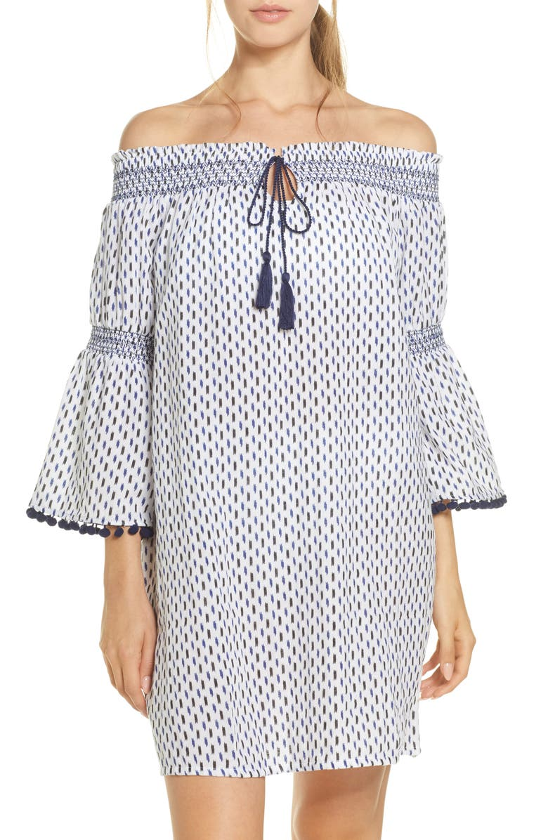 TOMMY BAHAMA Canyon Sky Cover-Up Tunic, Main, color, 100