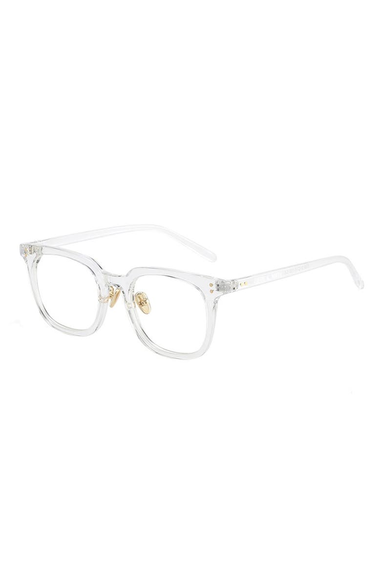 FIFTH & NINTH Austin 46mm Blue Light Filtering Glasses, Main, color, CLEAR