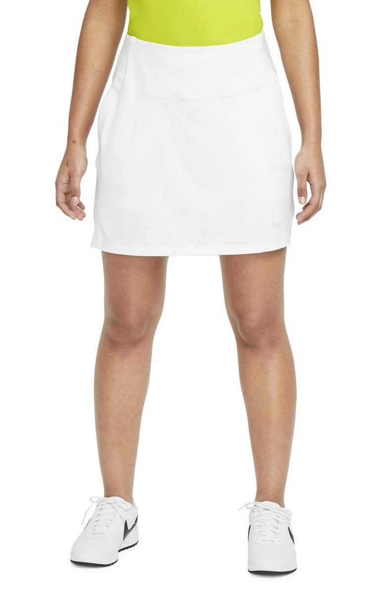 NIKE Victory Dri-FIT Golf Skirt, Main, color, WHITE/ PHOTON DUST